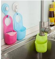 New Creative kitchen sink drain tank hanging basket basket bathroom shelf hanging storage organizer bag indispensable