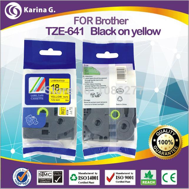 Лента для печатающего устройства Kgofficeservice tz/641 18 * 8 m for TZE-641 лента для печатающего устройства puty 18 tz tze tz se4 se4 se4 p touch pt 2430pc