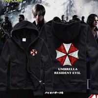 Drop Shipping Man Thick Hoody Fashion Resident Evil Logo design Hoodies Jacket Men Sportswear Tracksuits Hoodies Sweatshirt W078