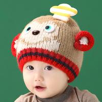 2015 Direct Selling New Cute Character Design Winter Autumn Newborn Crochet Hats Baby Boy Girl Christmas Handmade Caps Freesize