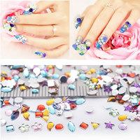 Mix Design 3d Rhinestone Nail Decoration,1440pcs/set Round Heart Crystal Glitter ss3 Nail Art Deco DIY Beauty Nail Accessroies