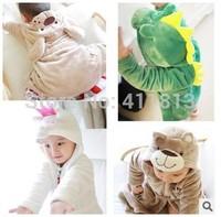 Free shipping  Boys and girls Dongkuan mink cashmere bathrobe animal head boys and girls