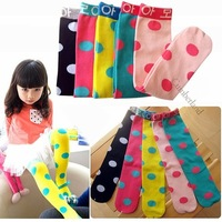 1Pairs Children  Kids Tights Toddler High Lenggings Girl's Stocking The Foot Wear 5Colors Mix #1017