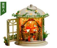 diy wooden dollhouse for decoration miniature Model Toys villa doll house miniatures