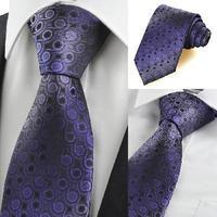 New Purple Gradient Swirl Paisley Men's Tie Necktie Wedding Holiday Gift KT0045