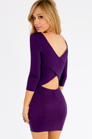 Slim package hip new fashion sexy backless dress