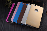 One hole Jacket Aluminum Matte Metal Cover Case For iphone 6 4.7inch case cover free shipping