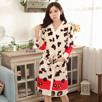 2015 Real Women Nightwear Wholesale Night Gown Two Piece Suit Autumn Girl Long Sleeved Thickened Home Furnishing Leisure Flannel