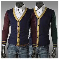 Drop Shipping Men Sweaters Cardigan Knitted Business Casual Brand Fashion Design Jumper Camisola Cotton Man Slim Sweater W244