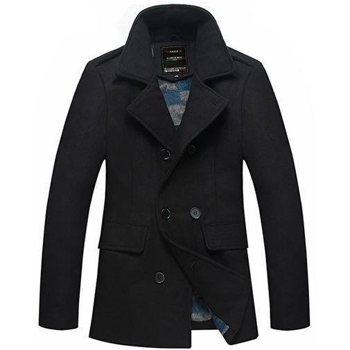 Fashion Mens Trench Coats Long Sleeve Turn-down Collar Men's Peacoats Winter Warm Outwear Jackets Coats Wholesales(China (Mainland))