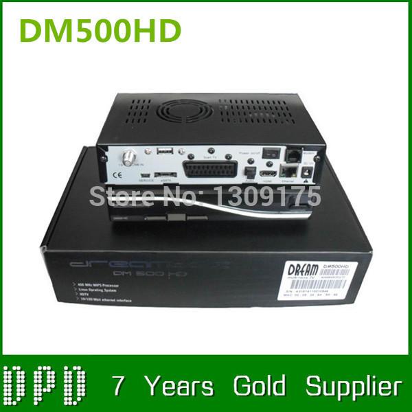 2pc/lot Satellite TV Receiver DM500hd DVB-S Sim2.10 500hd DM500 HD Satellite Receiver Linux Decoder 400mhz CPU Free Shipping()