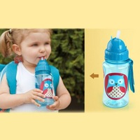 2014 fashion Chokecherry Children Cartoon Animal Straw Cup Kids Water Bottle Drinking Cup Leak Proof Sports Bottles