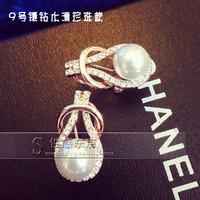 noble crystal pearl tennis lady's eairngs  (xcdxl)