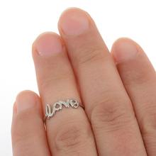 6Pcs lot Trendy Sweet Love Toe Rings For Women Lady Gold Silver Letter Love Foot Toe