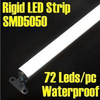 LED Strip Aluminum 100cm 72 leds 12V 5050 SMD Rigid PC Bar Light Waterproof Warm or White Color 60pcs/lot