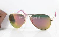 2015 New Brand Name Sunglass Fashion Sunglass Men's/Woman's Designer 3025-112/58 Metal Gold Sunglass Pink Iridium UV400 58mm