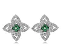 fashion statement green / blue / red crystal earrings for women gift for women party item jewelry women earrings wholesale