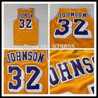 Fast Shipping Embroidery Retro Basketball Jersey 32 Magic Earvin Johnson Basketball Jersey S-XXL