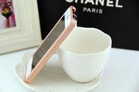 Crystal Rhinestone Bumper Frame  luxury fashion case For Phone 5g Full Diamond Gold Slim Shining Bling Metal Case For Phone55s