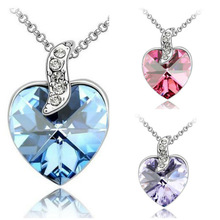 2014 hot sellr fashion crystal necklace palpitations sautoir pendant necklace