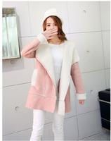 High quality 2015 winter New European American big new women woolen coat vintage lapel wool liner zip wool coat free shipping
