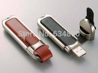 HOT Fashion Leather USB Flash Drives 64GB Pen Drive 32GB Pendrive Memory Stick Pendrives Fast shipping