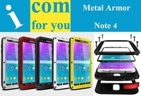 Love Mei Waterproof Shockproof Rugged Tempered Gorilla Glass Small Waist Metal Aluminum Cover For Samsung Galaxy Note 4 Original