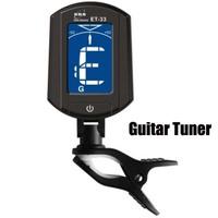 Hot sale Mini LCD Digital Guitar Clip Tuner Clip-on 360 Degree Backlight guitar Tuner clip Chromatic Bass Violin and Ukulele