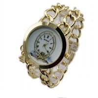 Hot Sale! Girl's Fashion Latest Popular Quartz Chain Watch For Women 85984