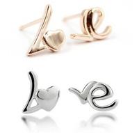 "2014 Brand New FASHION ""LOVE"" Stud Earrings for Women"