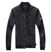 New fashion men jackets slim fit pu mens casual coat outwear 2 colors M L XL XXL 3XL 4XL 5XL