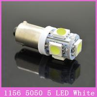 2x/lot BA9S T4W H21W H6W Cree Car LED Projector 5 SMD 5050 Lamp Turn Light Parking Reverse Bulbs White