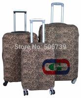 Free shipping Fashion Leopard luggage protective cover, luggage cover,elastic, 20inch,24inch,28inch