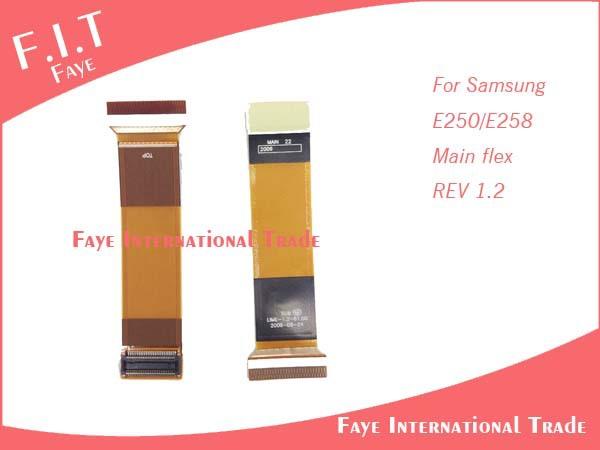 100pcs/lot Free Shipping FOR SAMSUNG E250(V1.2) E258LCD Main Slider FLEX CABLE(China (Mainland))