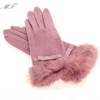 1 Pair Good Quality Gloves For Women Winter Gloves Warm Rabbit Fur Hand Wrist Wool Winter Gloves Free Shipping