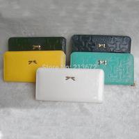 Euramerican Fashion Women's Wallet 2014New Fashions PU Leather Zipper Long Wallets Holders Purse Clutch Wallet Coin Purse Retail