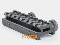 "UTG AR Flat Top 1/2(0.5)"" High See through 8-Slot Med-Profile Super Compact Riser Mount Picatinny/Weaver Rails 05S7 Free Ship"