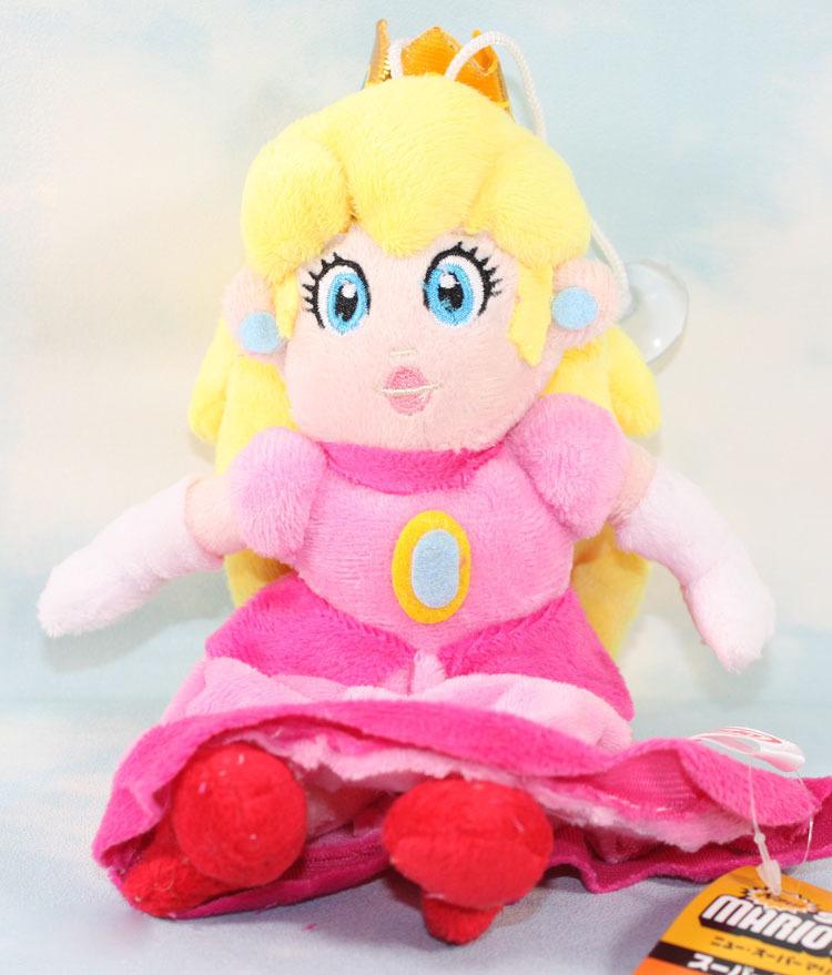 25 см Super Mario Bros ПРИНЦЕССА ПЕРСИК Плюшевые Куклы Супер марио принцесса плюшевые игрушки сидит Принцесса игрушка Розничная