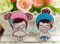 Blue and pink Little Angel iron on Patches girl embroidered Applique Badge Cartoon kids patches wholesale 100pcs/lot