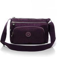 2015 casual multi-pocket water washed nylon women's handbag messenger bag 4 colors high quality B269