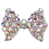 New Colorful Acrylic Round Nail Art Tips Crystal Glitter Rhinestone Decoration #M01117