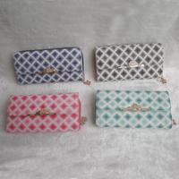 Euramerican Fashions Women's Wallet PU Leather Rhomb Zipper Long Wallets Holders Purse Clutch Wallet Coin Purse Retail&Wholesale