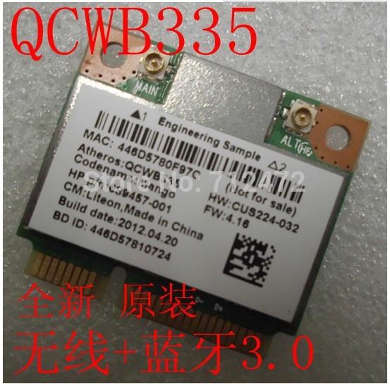 New WIFI Wireless+Bluetooth 3.0 atheros QCWB335 QCA9565 half mini PCI-E Card Free Shipping(China (Mainland))