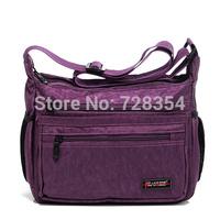 2015 women's handbag messenger bag casual  multi-pockets made of washed nylon fabric good quality B267