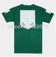 2013 New Shingeki no Kyojin allen short-sleeve 4 corps Attack on Titan t-shirt cosplay costume
