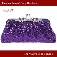 Kiss lock metal butterfly frame sequins purse evening bag