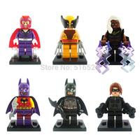 Marvel X-Men Wolverine Magneto Catwoman Storm Batman Minifigures 6pcs/lot Building Block Sets Model Figure Toys Decool 0148-0152