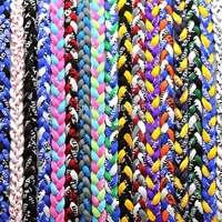 "Titanium Germanium Ionic Sports Necklace 16"" 18"" 20"" 22"" 3-rope Tornado Braid - 20pcs/lot"