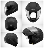 SOL-SM2-0227,Classic Matte Black,Motocycle Helmet,Modular/Flip-up/Full Face,DOT/CNS 2 Certificates,Patented Design,Double Lens