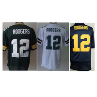 Packers Elite football jersey # 12 Aaron Rodgers jersey, 12 Rodgers jersey, Packers Rodgers jersey free shipping mixed order